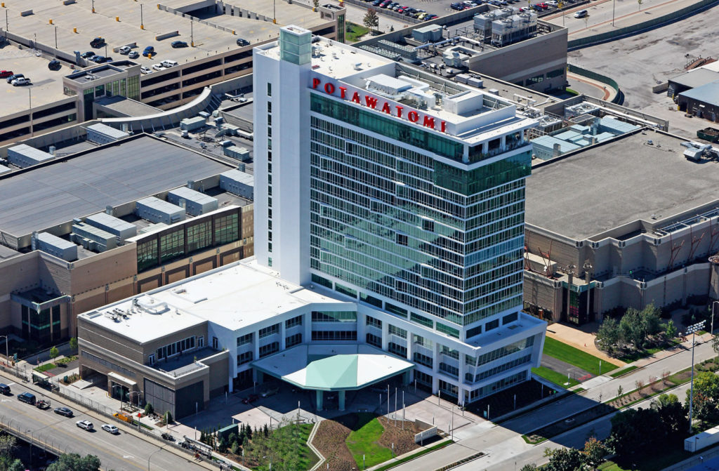 Potawatomi Hotel and Casino Steel Fabrication and Erection by CSE